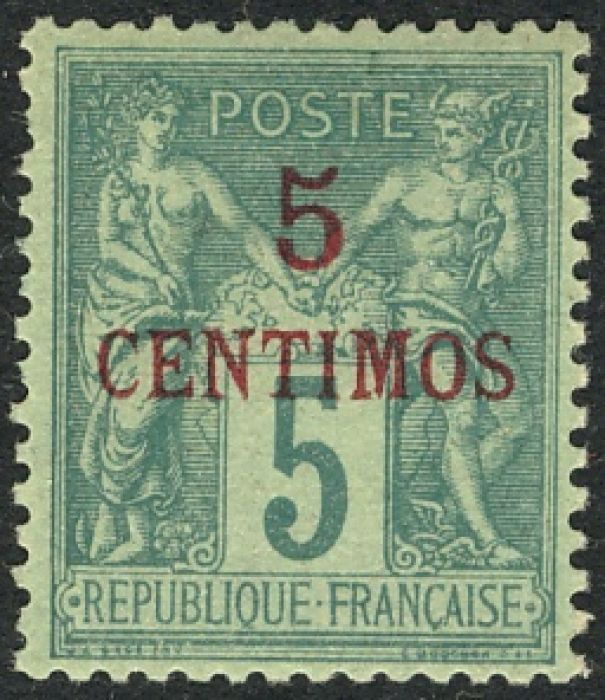 French Morocco Overprint