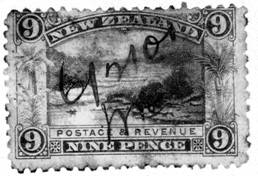 9-pence New Zealand color