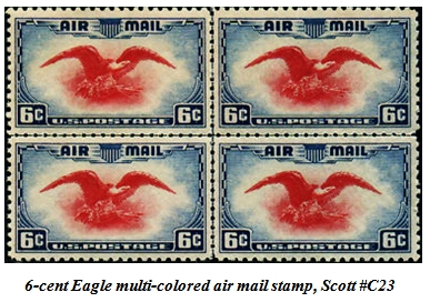 6-cent eagle stamp