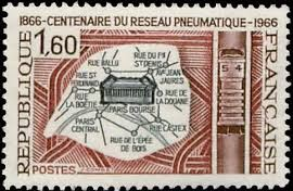 French pneumatic mail stamp